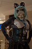 Leela 2 (Harlequeen) Tags: snowleopard confuzzled furcon leathercorset leera confuzzled2015