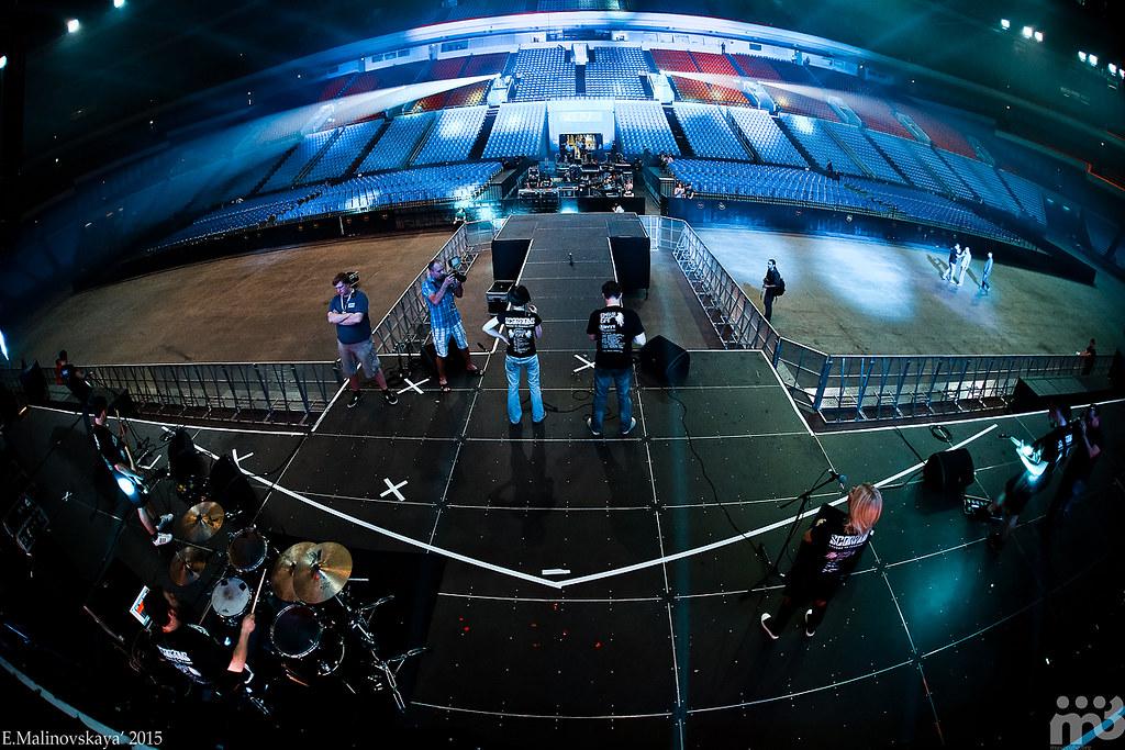 Команда БАГ на разогреве Scorpions в Олимпийском