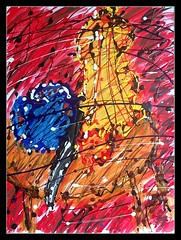 One Gourd, One Knife, One Love (joe_gergen) Tags: life abstract art love painting still acrylic knife gourd