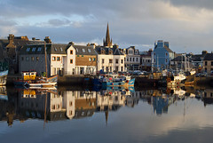 Stornoway Harbour Outer Hebrides (atlasphotoarchive) Tags: city uk greatbritain church architecture port buildings boats scotland boat town fishing europe nw european britishisles unitedkingdom harbour spires cities churches lewis scottish eu spire gb british outer northwestern towns westernisles isles isleoflewis hebrides harbours yachting stornoway outerhebrides fisheries