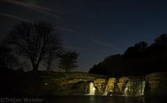 Night Fall (Trojan Wonder) Tags: waterfall night sky light painting silouhette stars blue trees rocks flowing white water