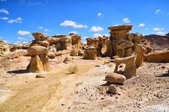 Path to Alien Throne (Jim Johnston (OKC)) Tags: newmexico desert hiking rockformations bistibadlands alienworld ahshislepah