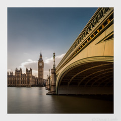 Bridge to the Seat of Power (don't count the pixels) Tags: london westminster thames square housesofparliament parliament bigben westminsterbridge ndfilters bwfilters 10stopfilter
