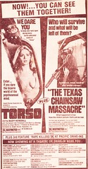 """1970s - The Carter Years - """"One day she met a man who loved beautiful girls ... but not all in one piece"""" (ramalama_22) Tags: art girl beautiful movie us texas massacre president jimmy young culture chainsaw double crime terror torso carter 1970s bizarre inauguration feature brutal dismemberment splater"""