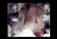 ss23-71 (ndpa / s. lundeen, archivist) Tags: people man color film boston massachusetts nick slide ponytail slideshow mass 1970s shavedhead youngman bostonians harekrishna bostonian dewolf early1970s nickdewolf photographbynickdewolf slideshow23