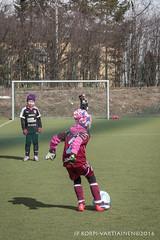 1604_FOOTBALL-16 (JP Korpi-Vartiainen) Tags: game girl sport finland football spring soccer hobby teenager april kuopio peli kevt jalkapallo tytt urheilu huhtikuu nuoret harjoitus pelata juniori nuori teini nuoriso pohjoissavo jalkapalloilija nappulajalkapalloilija younghararstus