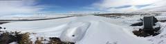 Approaching Myvatn Panorama (Dick Dangerous) Tags: panorama lake snow ice iceland view myvatn