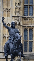 Richard Coeur de Lion (pjpink) Tags: uk england london architecture spring britain may housesofparliament parliament government ornate neogothic palaceofwestminster 2016 pjpink