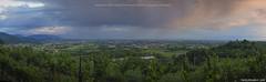 Panoramica dalla Collina di Monterondo durante un acquazzone al tramonto (Matteo Rinaldi.it) Tags: tramonto panoramica brescia collina temporale monterotondo acquazzone franciacorta passirano