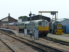 West Somerset Railway (8) - 6 June 2016 (John Oram) Tags: northstar westsomersetrailway williton class47 class33 class14 westernclass westernfusilier d1010 d1661 d9526 d6575 2002p1100930
