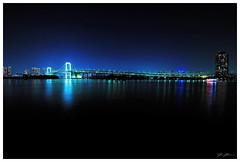 Rainbow bridge, Tokyo (280516) (n._y_c) Tags: city bridge urban night tokyo fuji x rainbowbridge xseries cityscaoe fujifim xt1 xf1024