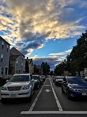 Cambridge Bike Path ((Jessica)) Tags: cambridge sunset sky bikepath clouds vanishingpoint massachusetts perspective newengland pw