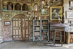 TheSaloon (Donna Meade Photography) Tags: art tile books henrymercer fonthillcastle