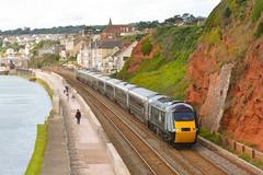 43005 43041 Dawlish 13/07/16 (yamdood91) Tags: uk train rail railway 43005 hst gwr dawlish 2016 greatwesternrailway class43 43041