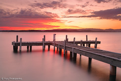 Sunset @ Lake Macquarie (renatonovi1) Tags: sunset belmont lakemacquarie centralcoast nsw australia lake jetty pier landscape squidsink