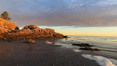Morning Tide (Note-ables by Lynn) Tags: sunrise sunsetsunrises tides stlawrenceriver clouds skies