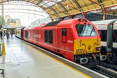 67018 DB Schenker (DB Cargo UK) London Victoria 18.08.16 (Paul David Smith (Widnes Road)) Tags: 67018 mapleleaf dbschenker dbcargouk london victoria skip