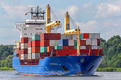 Süderoog (maritime.fotos) Tags: süderoog suderoog briese containerschiff containercarrier containership sehestedt kielcanal nok nordostseekanal