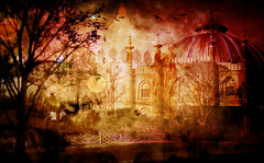 The Golden Mists of Autumn (abstractartangel77) Tags: mist golden autumn brightonpavilion brightondome trees