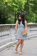 striped dress, espadrille sandals, straw clutch-10.jpg (LyddieGal) Tags: loft vogue anchor fashion forever21 jojo nautical outfit stripes style summer thrifted wardrobe watch weekendstyle