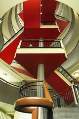 Bevin Court Staircase (Missusdoubleyou) Tags: bevincourt lubetkin finsbury cruikshankstreet london londonopenhouse2016 modernism socialhousing staircase stairs