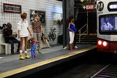 Plasticwood Metro Subway - The train is here! (Real Dolls of Plastic Wood) Tags: barbie dolls kelly homme action figure fashion royalty 16 scale toys subway train urban diorama set