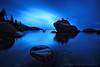 Bonsai Rock Blues (Andrew Louie Photography) Tags: lake storm coffee rock sunrise dark photography long exposure moody tahoe jazz blues andrew bonsai louie