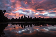 Sunrise At Angkor Wat (TheFella) Tags: travel trees light sky lake reflection slr water architecture clouds digital photoshop sunrise reflections landscape asian religious temple photography dawn photo pond nikon asia cambodia southeastasia cambodian khmer cloudy religion buddhism angkorwat unesco worldheritagesite photograph processing dslr siemreap angkor wat hindu d800 indochina postprocessing templecity travelphotography kampuchea kingdomofcambodia khmerarchitecture  cityoftemples thefella    conormacneill  prehrachanachkkmpcha thefellaphotography