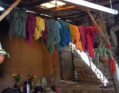 Peru (Cusco) Llama (alpaca) wool skeins naturally dyed with plant materials (ustung) Tags: wool alpaca peru cusco llama products dyed dyes skeins