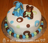 Elephant & Teddy Bear Baby Shower Cake