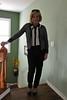 pantspolkastairs (krislagreen) Tags: pumps highheels pants cd tgirl transgender polkadots blond transvestite crossdress tg cardi feminized pantsanddots