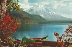 Spirit Lake before St. Helen eruption (912greens) Tags: mountains fall boats lakes canoes serenity volcanoes mtsthelens spiritlake