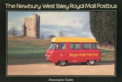 The Newbury to West Ilsley Postbus at Donnington Castle . (AndrewHA's) Tags: bus castle post mail royal pb donnington newbury maidstone minibus commer rootes westilsely
