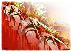 Queen Victoria (evie.edwards) Tags: red sculpture orange art monument yellow statue coral tangerine gold amber reina memorial outdoor drawing terracotta figure copper geometrical regina royalty royalfamily patsas vittoria rainha koningin veistos drottning droning photoborder