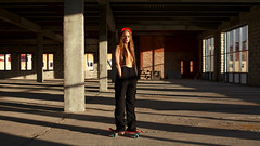 (altingfest) Tags: light red portrait sun sunlight black color building colors girl up lines contrast 35mm canon nude russia geometry vivid indoor skate carl skateboard 5d russian ze distagon carlzeiss skete 5dmarkii 5dm2 5dmark2 distagont1435 carlzeissdistagont35mmf14