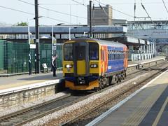 153383 at Peterborough (9/5/16) (*ECMLexpress*) Tags: trains class east peterborough midlands 153 sprinter dmu ecml 153383