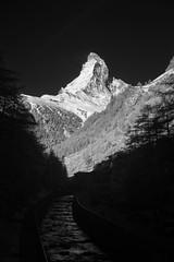 Matterhorn (Edd Noble) Tags: morning blackandwhite mountain zeiss sunrise river ir blackwhite sunny clear filter infrared zermatt matterhorn nocrop carlzeiss sonyalpha bw093 830nm sonyimage sonya7 zeiss55mmf18
