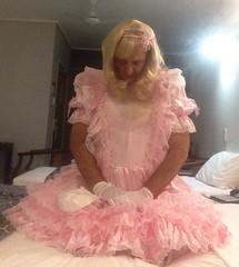 bedsit (shellyanatine) Tags: pink dress crossdressing sissy petticoat frilly