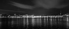 Night in Stockholm (P. Burtu) Tags: city lake water night clouds blackwhite sweden stockholm sdermalm sverige vatten skeppsholmen natt stad mlaren sj moln svartvitt