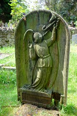 wooden angel grave marker new forest (Dorset's finest) Tags: uk england cemetery graveyard angel headstone tomb hampshire burial newforest