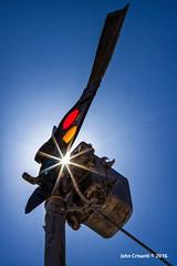Lighting the Semaphore (Colorado & Southern) Tags: railroad newmexico railway signal railfan railroads glorieta atsf railfanning semaphores atchisontopekasantafe bnsfrailway semaphoresignal glorietapass newmexicotrain newmexicotrains newmexicorailroads