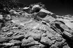 Canyon De Chelly (Lorencz Photography) Tags: arizona usa southwest nature monochrome us sandstone rocks az canyon cliffs navajo canyondechelly chinle lorenczphotography