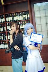 Me & Kafuu ! (Nhp xinh trai siu cp !) Tags: cosplay kafuu chino gochuumon wa usagi desu ka cute japan vietnam china selfie it me mi shen boy with girl indoor fan sign canon 5d mark ii kawaii