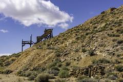 Eureka Mine, Death Valley N.P. (punahou77) Tags: california park mountain clouds landscape nationalpark mine desert landmark mining deathvalley deathvalleynationalpark aguereberrypoint aguereberry nikond7100 punahou77