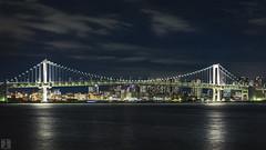 Tokyo Landscape (yuk_miy) Tags: bridge japan canon landscape nightscape  nightview rainbowbridge nightphotograph canonphotography