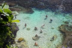 People swim in the turquoise waters of Uluwatu. (wrightontheroad) Tags: uluwatu swimming tropicalwaters turquoisewaters warmwaters kutaselatan bali indonesia