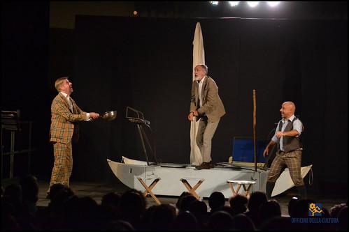 Tre uomini in barca all'Arena Eden