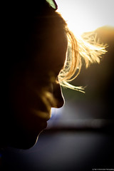 backlight.. (paul.wienerroither) Tags: light girl hair sun afternoon photography canon 50mm silhouette face travel nicaragua backlight profile goldenhour