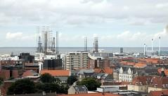 Hafenregion - von oben, vom Wasserturm aus gesehen; Esbjerg, Dnemark (2) (Chironius) Tags: esberg dnemark esbjerg denmark danmark industrie nordsee meer see northsea mardelnorte maredelnord merdunord