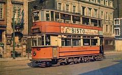 c1950 - London Tram 594 on route 70 at London Bridge (Tooley Street / Duke Street Hill) terminus. (RTW501) Tags: londontram594 tram londontransport londonbridge tooleystreet dukestreethill depot